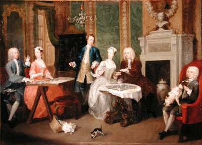 Portrait of a Family, 1730s (oil on canvas) by William Hogarth - print