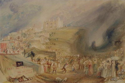 St. Catherine's Hill, Guildford, Surrey, 1830 (w/c and graphite on paper) by Joseph Mallord William Turner - print