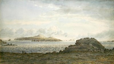 St. David's Head, Pembrokeshire, c.1805 (w/c on paper) by John Glover - print