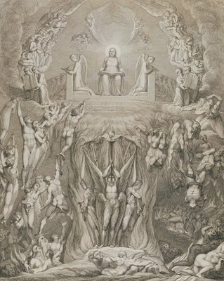 The Day of Judgement, pl.9, from 'The Grave, A Poem' by William Blake (1757-1827), engraved by Luigi Schiavonetti (1765-1810), 1808 (etching) by William Blake - print