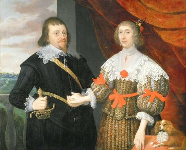 Portrait of a Husband and Wife by John ParkerPortrait Of A Husband And Wife