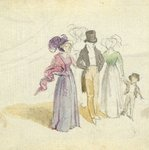 A family strolling, c.1825 Poster Art Print by Claude Monet