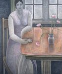 Woman with Small Cup, 2007 Poster Art Print by Ruth Addinall