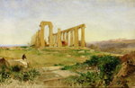 Temple of Agrigento Poster Art Print by Thomas Hearne