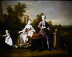 The Edwards Hamilton Family on their Terrace in Kensington, 1733 Poster Art Print by Edward Killingworth Johnson