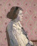 Fine Art Print of Portrait in Profile: Mary L by Harold Gilman
