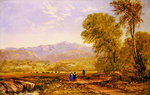 View of Snowdon, Capel Curig Poster Art Print by David Cox