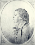 A profile portrait of a young Boy Poster Art Print by Angelica Kauffmann