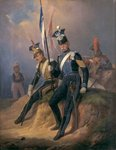 Polish Officers of the Napoleonic Army, 1852 Poster Art Print by French School