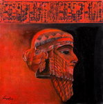 Head of a Ruler, Sargon the Akkadian Poster Art Print by Firyal Al-Adhamy