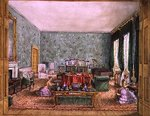 The Drawing Room at Meesdenbury, f13 from An Album of Interiors, 1843 Poster Art Print by William Henry Hunt