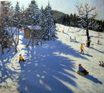 Mountain hut, Morzine Poster Art Print by Andrew Macara