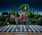 Lady on a Zebra, 1981 Poster Art Print by Anthony Southcombe