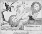 Bubble bursting, published by John Childs, New York and Washington DC, c.1840, Poster Art Print by American School