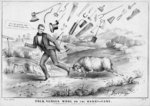 Polk versus wool, or, The Harry-cane, published by H R Robinson, New York, 1844 Poster Art Print by American School