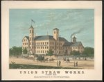 Union Straw Works, Foxboro, Mass. Poster Art Print by American School