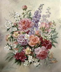 A High Summer Bouquet Poster Art Print by Albert Williams
