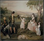 John, the 4th Duke of Atholl and his family, 1780 Poster Art Print by Jacobus Schlachter