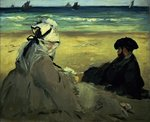 On the Beach, 1873 Poster Art Print by Paul Cezanne