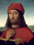 Portrait of a Man Poster Art Print by Pietro Perugino