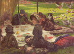 The Picnic Poster Art Print by William Holman Hunt