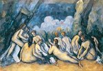 The Large Bathers, c.1900-05 Poster Art Print by Paul Cezanne