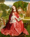 Virgin and Child in a Garden Poster Art Print by Leonardo da Vinci