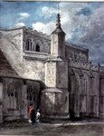 Part of the Exterior of East Bergholt Church: The North Side, c. 1801-05 Poster Art Print by John Buckler
