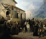 Field-marshal Alexander Suvorov on the St Gothard summit, 13th September 1799, 1855 Poster Art Print by Harry John Johnson