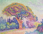 The Pine Tree at St. Tropez, 1909 Poster Art Print by Theo van Rysselberghe