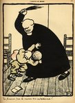 A priest beats a boy, from 'Crimes and Punishments', special edition of 'L'Assiette au Beurre', 1st March 1902 Poster Art Print by Felix Edouard Vallotton