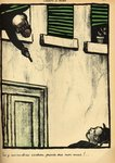 A bourgeois fires from his window on a passerby, from 'Crimes and Punishments', special edition of 'L'Assiette au Beurre', 1st March 1902 Poster Art Print by Felix Edouard Vallotton