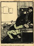 A policeman hits a man with a bottle in a police station, from 'Crimes and Punishments', special edition of 'L'Assiette au Beurre', 1st March 1902 Poster Art Print by Felix Edouard Vallotton