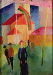Church Decorated with Flags Poster Art Print by Amedeo Modigliani