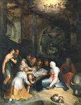 Fine Art Print of The Adoration of the Shepherds by Karel Van Mander