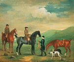Fine Art Print of The 4th Lord Craven coursing at Ashdown Park by James Seymour