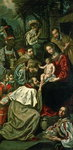 The Adoration of the Magi, 1620 Poster Art Print by Andrea Casali