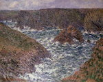 Port Domois at Belle Ile, 1886 Poster Art Print by Claude Monet
