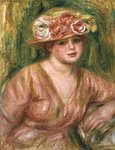 The Rose Hat or Portrait of Lady Hessling Poster Art Print by Pierre-Auguste Renoir