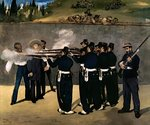 The Execution of the Emperor Maximilian, 1867-8 Poster Art Print by Claude Monet