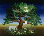 Tree of Dreams, 1994 (oil on canvas) by Franz von Bayros - print