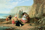 A Day at the Seaside Poster Art Print by Louis Leopold Boilly