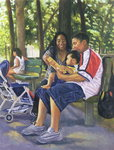 Family in the Park, 1999 Poster Art Print by Colin Bootman