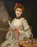 Fine Art Print of The Love Letter by Francois Martin-Kavel