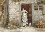 Waiting for the Post Poster Art Print by Sir Lawrence Alma-Tadema