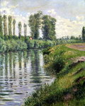 Small Branch of the Seine at Argenteuil Poster Art Print by Claude Monet