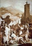 Fine Art Print of The Tarantella by Theodore Gericault