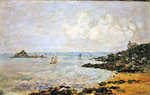 The Bay of Douarnenez and Ile Tristan Poster Art Print by Paul Gauguin