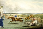 Forth Mile, from Steeplechasing, engraved by Charles Hunt Poster Art Print by Jules Ernest Renoux