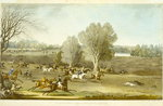 Coursing - A View of Hatfield Park, engraved by James Pollard Poster Art Print by Jean-Baptiste Oudry